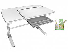 Дитяча парта растишка стіл трансформер Evo-Evo Kids-502 Darwin Gray