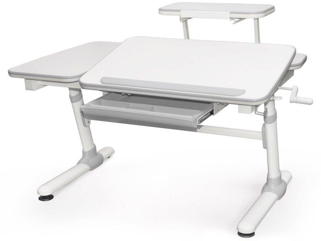 Детская парта растишка стол трансформер Evo-Kids Evo-502 Darwin Gray (с полкой)