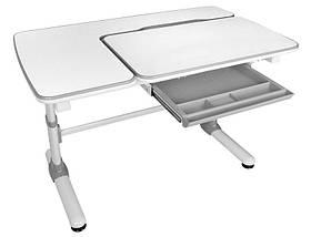 Детская парта растишка стол трансформер Evo-Kids Evo-502 Darwin Gray (с полкой), фото 2