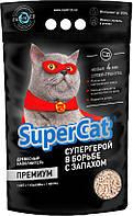 SuperCat ПРЕМИУМ - Наполнитель для кошачьего туалета из дерева