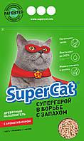 SuperCat Наполнитель для кошачьего туалета ароматизированный
