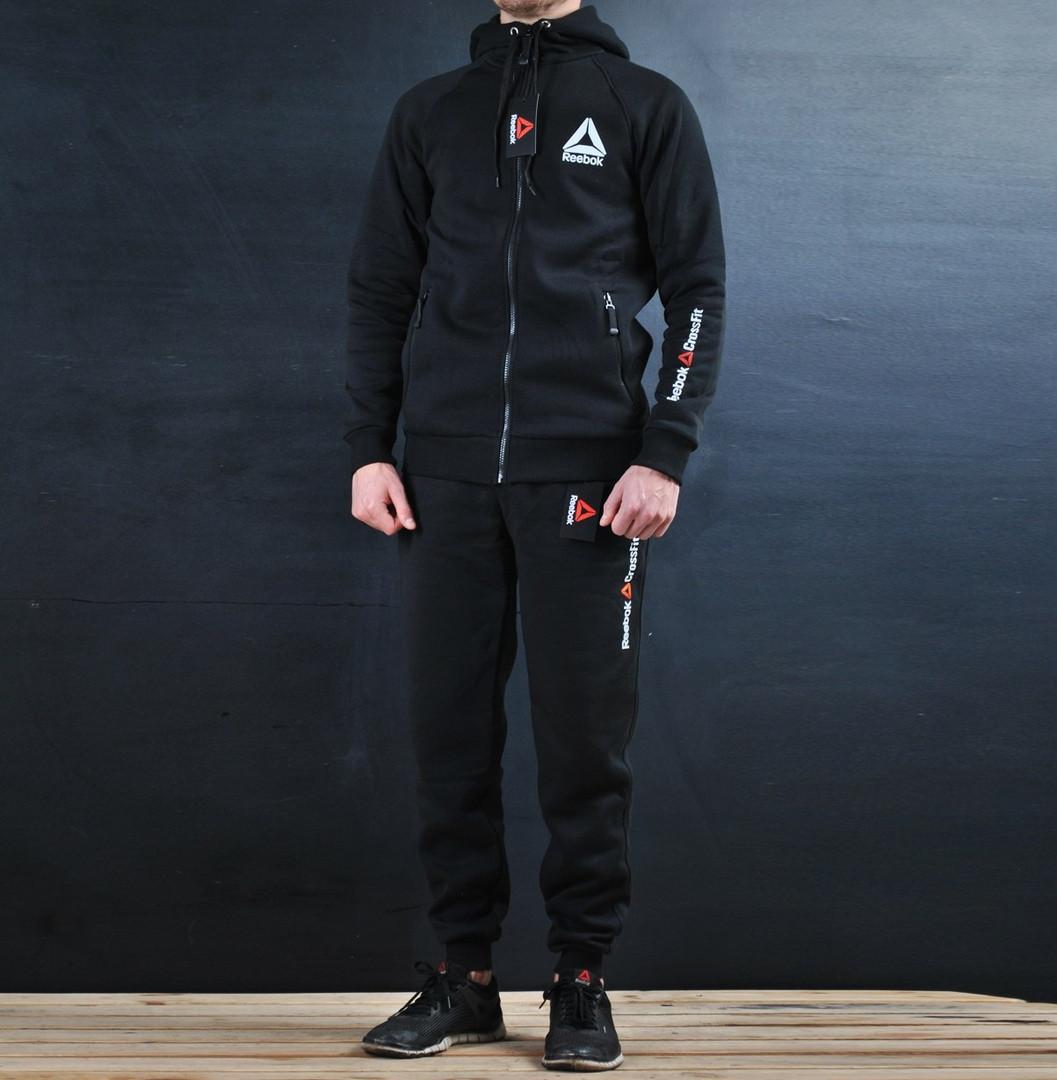 d2c17a6a Утепленный Спортивный костюм Reebok Crossfit черный с капюшоном ...