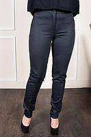 Молодежные брюки  с зауженными штанинами на манжете, серого цвета, фото 1