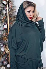 Новинка сезона!!! Женский трикотажный костюм юбка в пол размер 48-56, фото 3