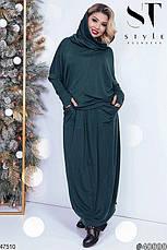 Новинка сезона!!! Женский трикотажный костюм юбка в пол размер 48-56, фото 2