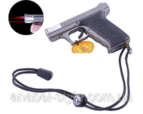 Зажигалка пистолет (Турбо пламя, Лазер) №3982  Код 118241