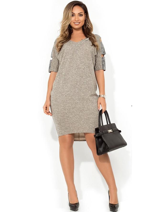 Деловое женское платье размеры от XL ПБ-239