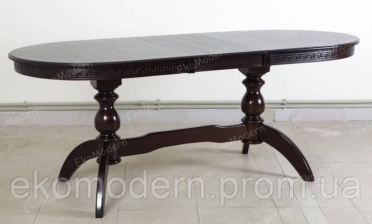 Стол большой обеденный ЭЛИТ + из дерева бук овальный для дома и ресторана