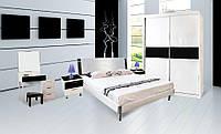 Спальня Ажур (Черный / Белый) (1,60 м.) с подъемным механизмом (раскомплектовуется)