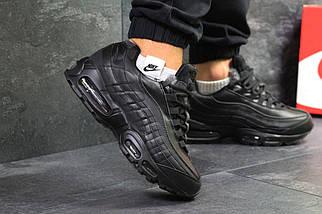 Мужские зимние кроссовки Nike Air Max 95 Черные/Black, фото 2