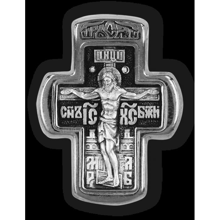 Распятие Христово. Преподобный Сергий Радонежский. Православный крест.