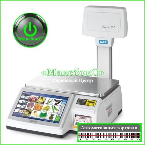 Весы печатью этикетки 30 кг CAS CL-7200-U