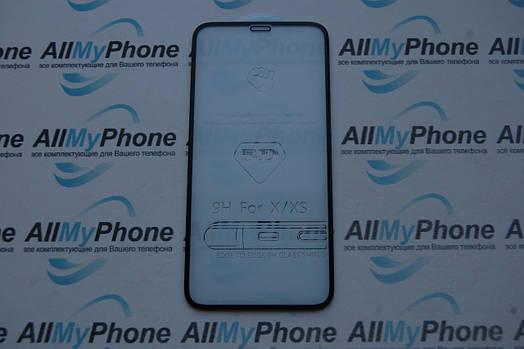 5D закаленное стекло Apple iPhone X черное
