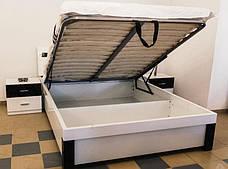 Спальня Ажур (Черный / Белый) (1,80 м.) с подъемным механизмом (раскомплектовуется), фото 3