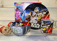 Красивый и яркий набор детской посуды Звездные войны