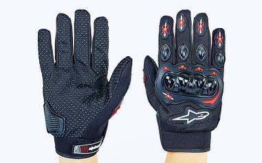 Мотоперчатки текстильные с закрытыми пальцами и протектором Alpinestars MS-5529-A