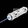 Лазерная указка YX B017 —  Мощный лазер с 5 насадками, яркий синий лазер, фото 6