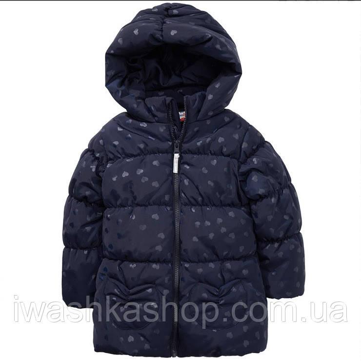 Зимняя темно -синяя куртка на девочку 5 - 6 лет, р. 116, Topolino