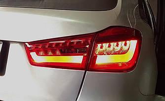 Диодные фонари LED тюнинг оптика Mitsubishi ASX красные