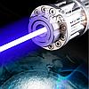 Лазерная указка YX B017 —  Мощный лазер с 5 насадками, яркий синий лазер, фото 2