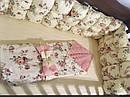Комплект для ліжечка: бортики захист для новонароджених + постільна білизна «Тваринки», фото 2