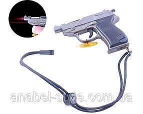 Зажигалка пистолет (Турбо пламя, Лазер) №3983 Код 118242