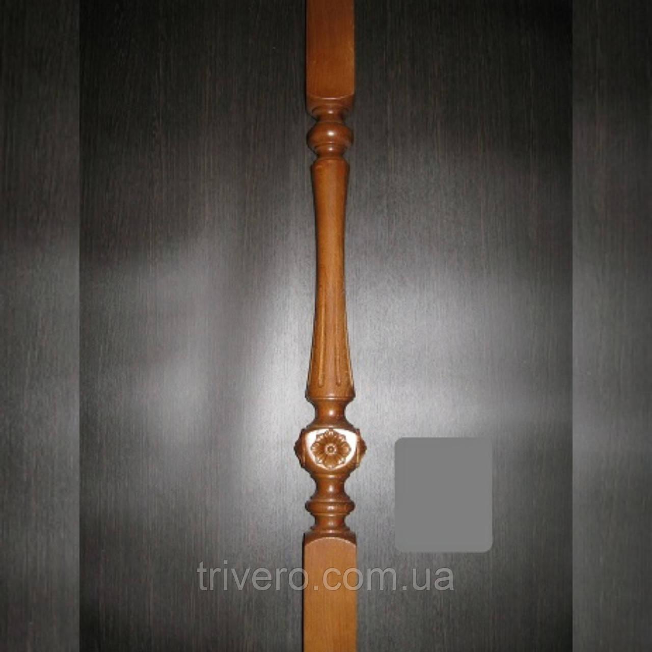 Балясина деревянна с резбой цветок L-05
