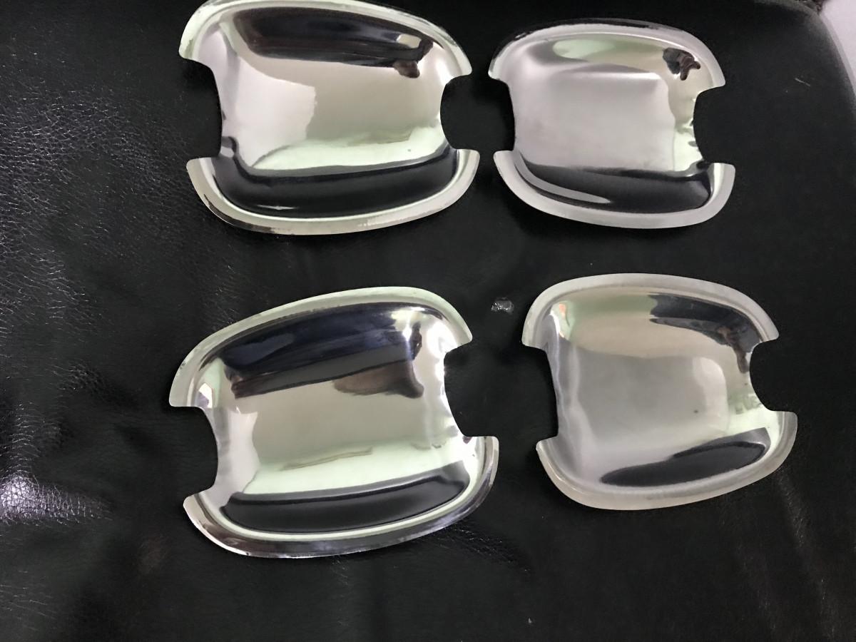 Мильнички под ручки (4 шт, нерж) - Chevrolet Aveo T250 2005-2011 гг.