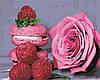 AS0462  Набор живописи по номерам Розовое наслаждение