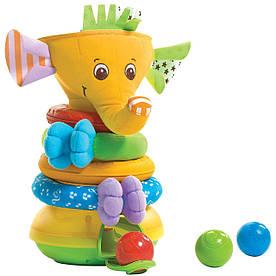 Музыкальная пирамидка Радужный Слоник Tiny Love 1502106830