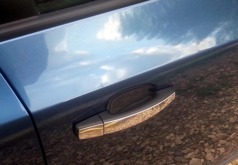 Накладки на ручки УЗКИЕ (4 шт., нерж., Omsa) - Chevrolet Aveo T300 2011+ гг.