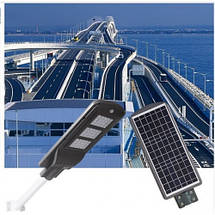 Светодиодный светильник на солнечной батарее 60W с датчиком движения. Led фонарь на столб, фото 2