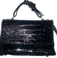 Женская черная лаковая сумка, клатч Премиум класса 24*15 см, фото 1