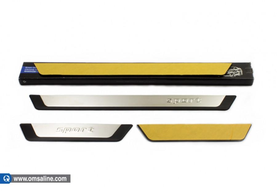 Накладки на пороги (4 шт, Flexill) - Chevrolet Cruze 2009+ гг.