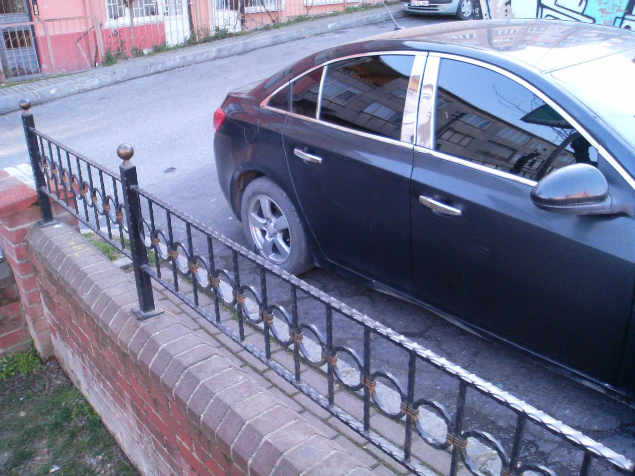 Накладки на стойки (нерж.) - Chevrolet Cruze 2009+ гг.
