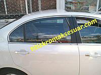 Верхняя окантовка окон (4 шт, нерж) - Chevrolet Epica 2006+ гг.