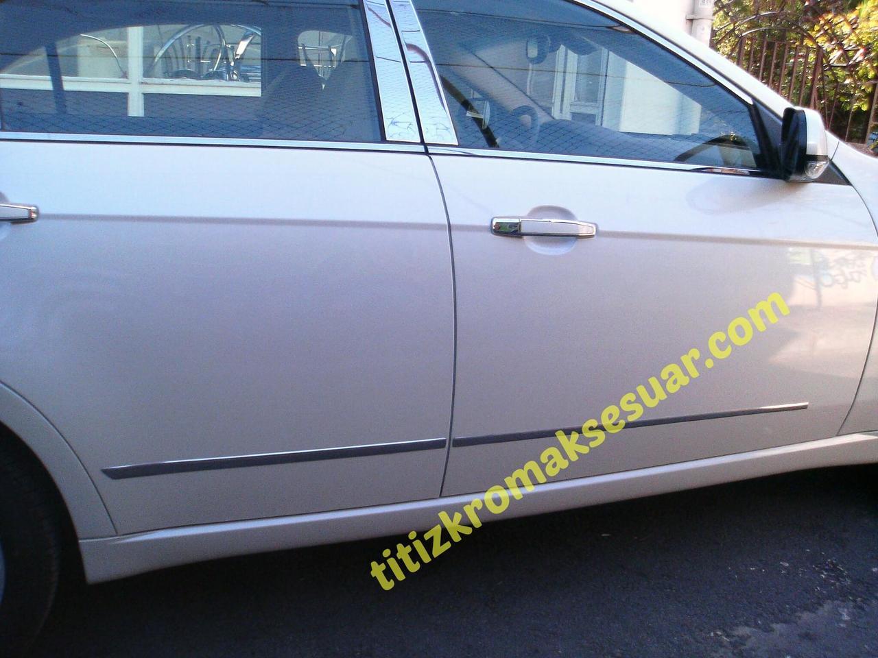 Накладки на дверные молдинги (нерж.) - Chevrolet Epica 2006+ гг.