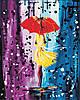 AS0444  Набор живописи по номерам Волшебный дождь