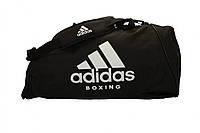 Спортивная сумка Adidas Boxing 62х31х31 см (ADIACC055B) Black/White, фото 1