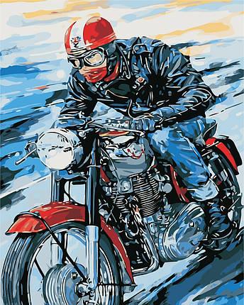 AS0441  Набор живописи по номерам Мотоциклист, фото 2