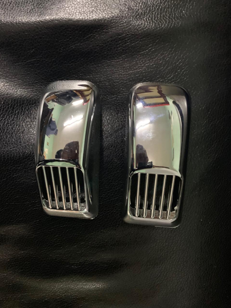 """Решетка на повторитель """"Прямоугольник"""" (2 шт, ABS) - Chevrolet Evanda 2000+ гг."""