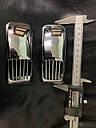 """Решетка на повторитель """"Прямоугольник"""" (2 шт, ABS) - Chevrolet Evanda 2000+ гг., фото 5"""