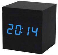Электронные цифровые настольные часы дерево VST 1293 подсветка Blue, фото 1