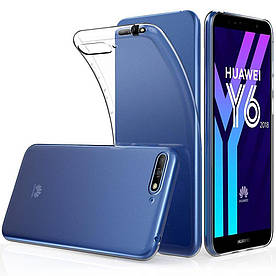 Чехол накладка для Huawei Y6 2018 ATU-L21 силиконовый, Air Case, прозрачный, Прозрачный