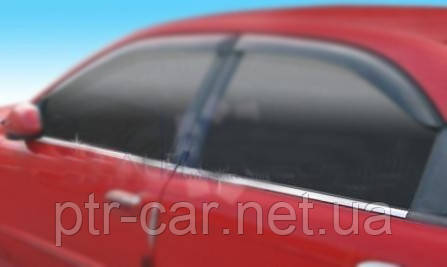 Окантовка окон (4 шт, нерж) - Chevrolet Lanos
