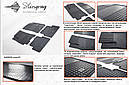 Резиновые коврики (4 шт, Stingray) - Chevrolet Lanos, фото 2