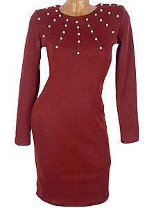 Красивое платье с бусинами (в расцветках)