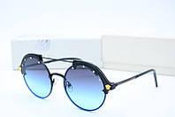 Солнцезащитные очки Versace круглые голубые с черным, фото 1