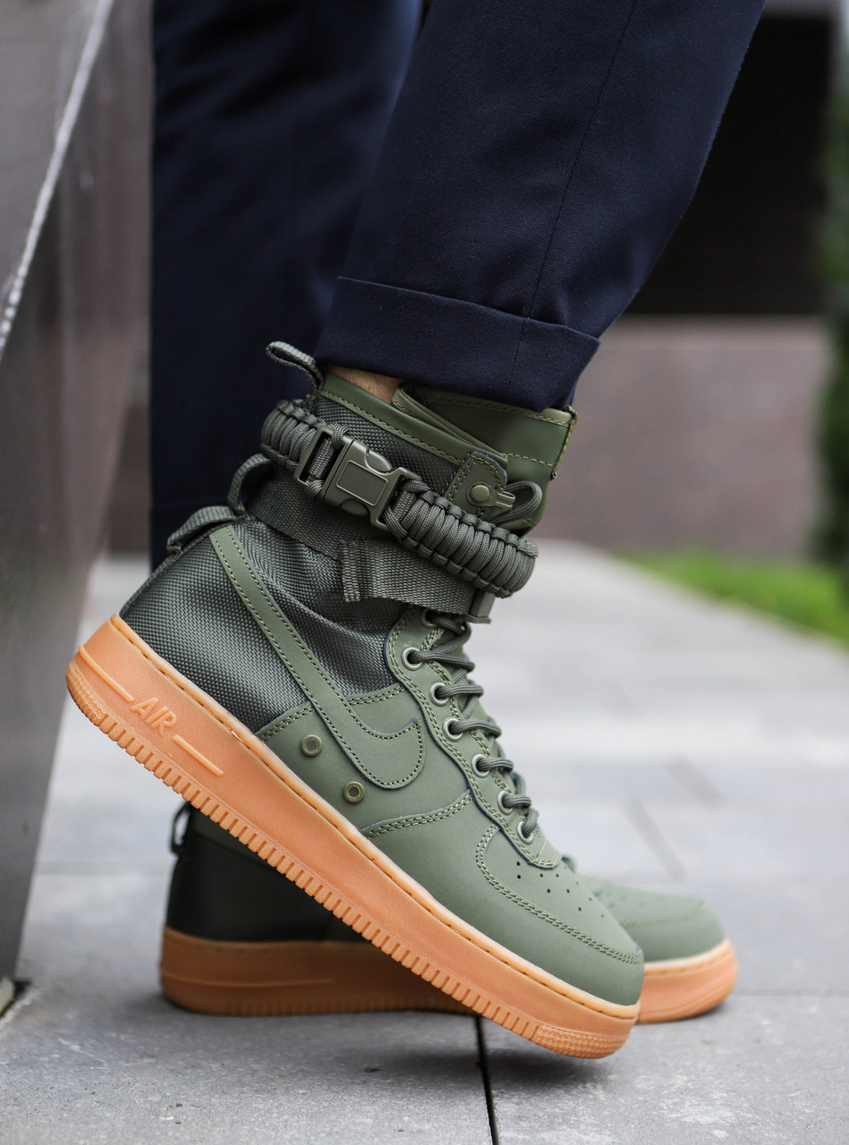 "Кроссовки Nike Air Force 1 High Special Field SF 1 ""Green"" (Зеленые)"