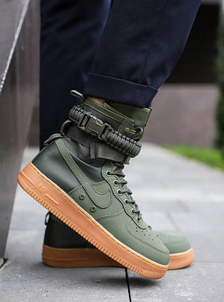 "Кроссовки Nike Air Force 1 High Special Field SF 1 ""Green"" (Зеленые), фото 2"